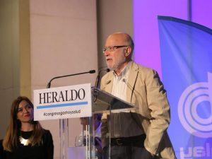 Manuel Toharia, en la ponencia inaugural de la IV edición del Congreso de Gastronomía y Salud.